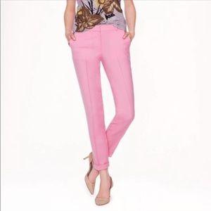 EUC J. Crew Pink Cafe Capri Tollegno Wool Pants